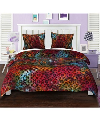 Reversible Bohemian Indian Mandala Cotton Hippie Boho Duvet Doona Cover Set RHDVT0085
