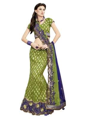 light green woven jacquard saree with blouse