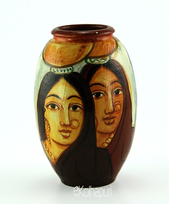 Handmadetwo Village Womens Multicolor Design Terracotta Idols And Figurines/Home Decor/ Showpieces/Pots