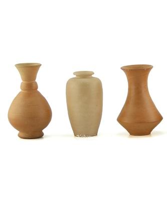 Handmade 3D Work Mini Three Show Piece Terracotta Pot Set Idols And Figurines/Home Decor/ Showpieces