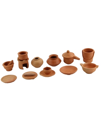Natural Colored Made Of Teracotta Clay Handicrafts Showpiece Terracotta Vase