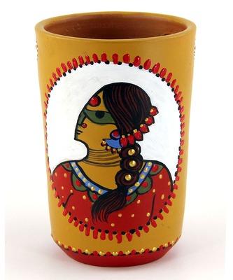 Multicolored Made Of Teracotta Clay Handicrafts Showpiece Terracotta Vase/Pot