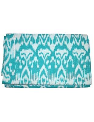 Kantha Quilt Queen Cotton Vintage Throw Blanket Multi Design Indian Handmade GDR0008