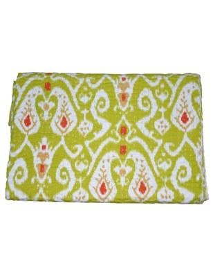 Kantha Quilt Queen Cotton Vintage Throw Blanket Multi Design Indian Handmade GDR0011