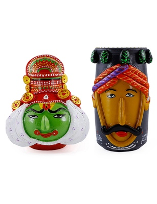 Handmade Beautiful Combo Of Two Male M Seal & Terracotta Showpeice For Home Decor
