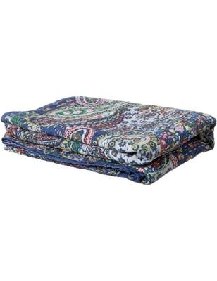 Kantha Quilt Queen Cotton Vintage Throw Blanket Multi Design Indian Handmade GDR0065