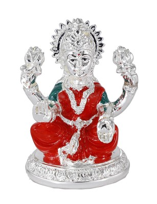 Authentic Silver Plated Resin Material Laxmi Mata Idol For Home Decor/Gift Items/Showpiece