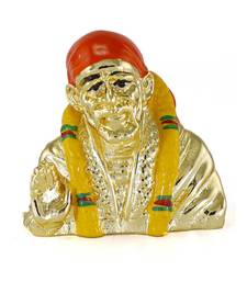 Traditional Gold Plated Resin Material Lord Saibaba idol for Home decor/Gift Items/Showpiece