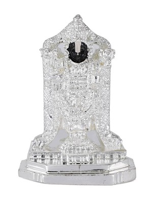 Attaractive Silver Plated Resin Material Lord Balaji idol for Home decor/Gift Items/Showpiece