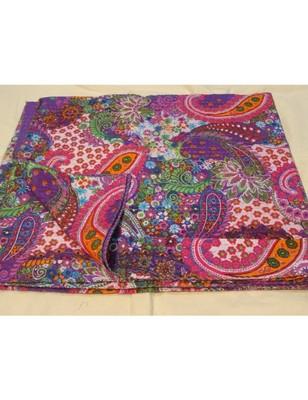 Kantha Quilt Queen Cotton Vintage Throw Blanket Multi Design Indian Handmade GDR0147