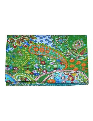 Kantha Quilt Queen Cotton Vintage Throw Blanket Multi Design Indian Handmade GDR0198