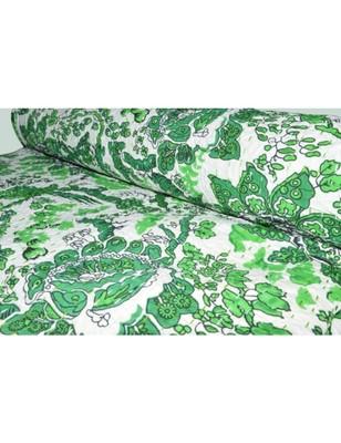 Kantha Quilt Queen Cotton Vintage Throw Blanket Multi Design Indian Handmade GDR0263