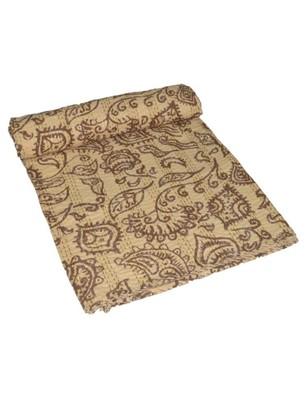 Kantha Quilt Queen Cotton Vintage Throw Blanket Multi Design Indian Handmade GDR0292