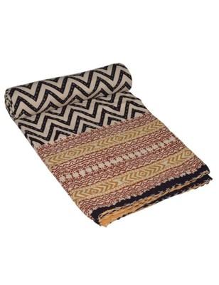 Kantha Quilt Queen Cotton Vintage Throw Blanket Multi Design Indian Handmade GDR0295