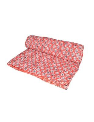 Kantha Quilt Queen Cotton Vintage Throw Blanket Multi Design Indian Handmade GDR0302