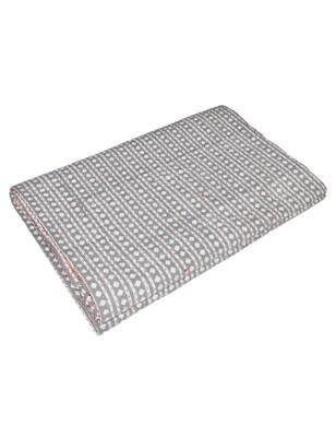 Kantha Quilt Queen Cotton Vintage Throw Blanket Multi Design Indian Handmade GDR0330