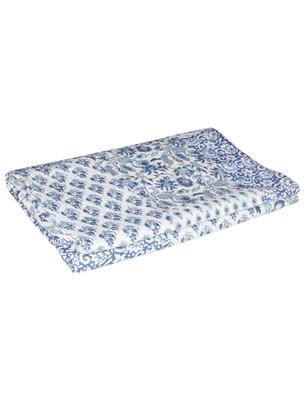 Kantha Quilt Queen Cotton Vintage Throw Blanket Multi Design Indian Handmade GDR0357