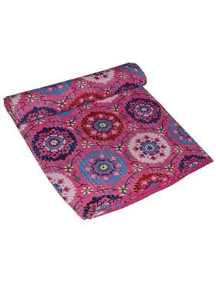 Kantha Quilt Queen Cotton Vintage Throw Blanket Multi Design Indian Handmade GDR0399