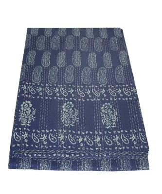 Kantha Quilt Queen Cotton Vintage Throw Blanket Multi Design Indian Handmade GDR0545
