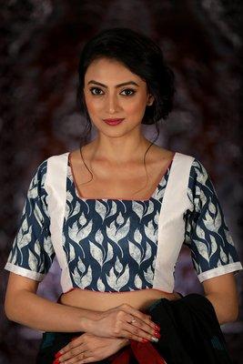 Multicoloured Cotton readymade blouse