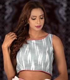 Grey Cotton readymade blouse