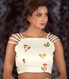 White Cotton readymade blouse