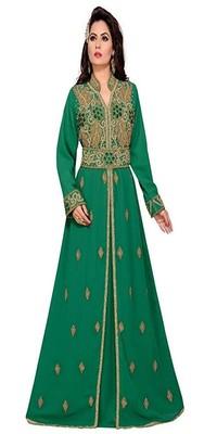 ELEAGNT MODERN ARABIC KAFTAN DRESS FOR WOMEN WEDDING GOWN