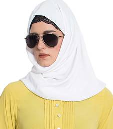 Off-White Plain Nida Stitched Hijab