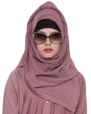 pink plain nida stitched hijab