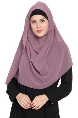 Pink Plain Georgette Stitched Hijab