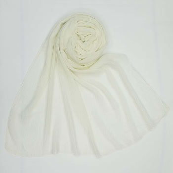 White  plain cotton hijab