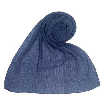 Blue  Plain Cotton Hijab