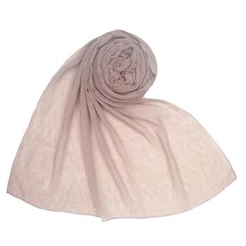 Light pink  plain cotton hijab
