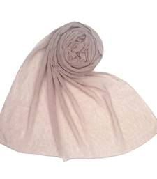 Light pink  plain cotton hijab