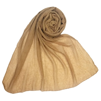 Brown Plain Cotton Hijab