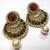 Pearl Drop Multi color polki earrings