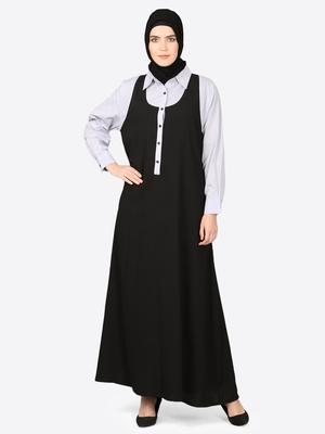 Nazneen Executive Two Color Abaya