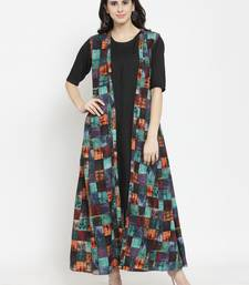 Indibelle Multicolor woven viscose rayon kurtas-and-kurtis