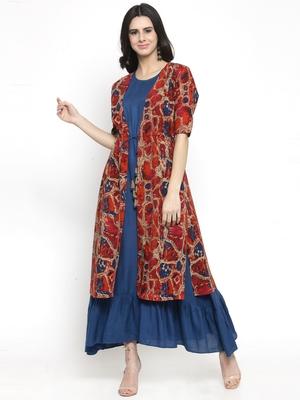 Multicolor woven viscose rayon kurtas-and-kurtis