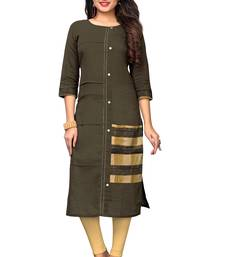 Brown hand woven cotton kurtis