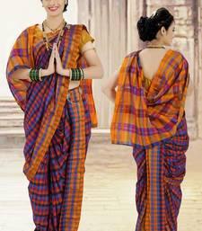 Multi Poly Cotton Silk nauvari saree