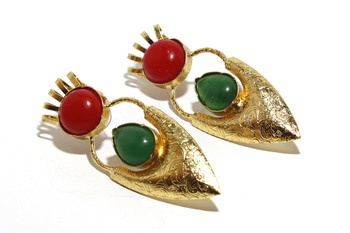 Multicolor pearl earrings