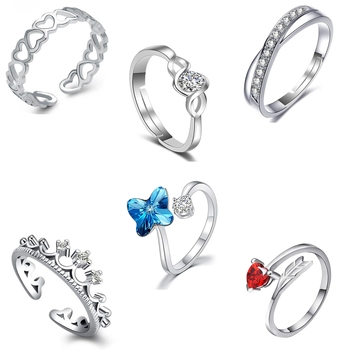 Multicolor cubic zirconia rings