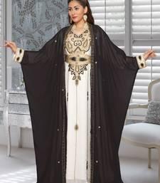 Georgette Black Embroidered Zari Work Farasha