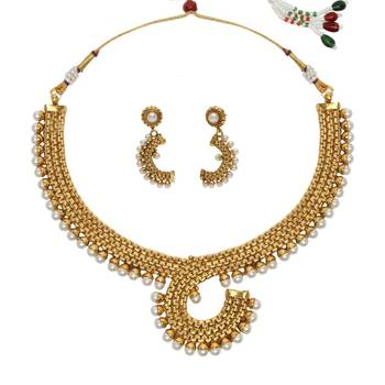 White cubic zirconia necklace-sets