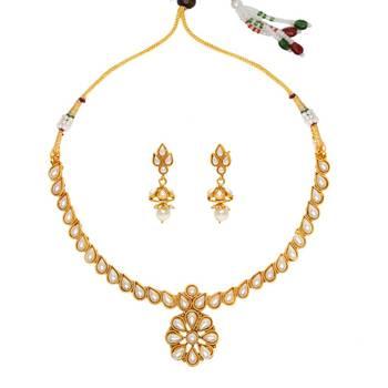 White cubic zirconia necklace-sets