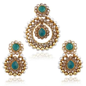 Turquoise cubic zirconia pendants