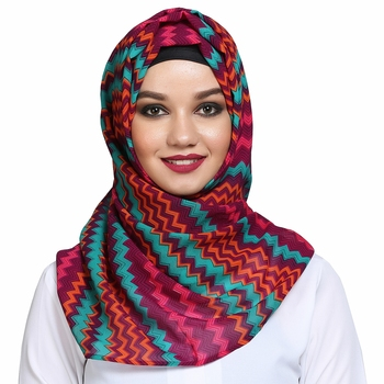 Georgette multicolor plain hijab