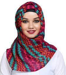 Georgette multicolor plain hijab