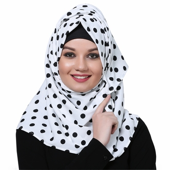 Polyester multicolor plain hijab